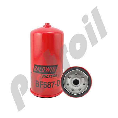 BF587-D Baldwin Fuel Filter Spin On Iveco w/Drain 4764725 Volvo 434061 33472 FF5135l PSC496 WK842 FF215 P550587