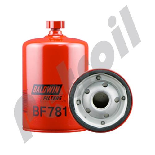 BF781 Baldwin Fuel Filter Spin On w/Drain GMC 25011285 P550944 33123 FF5034 LFP944F
