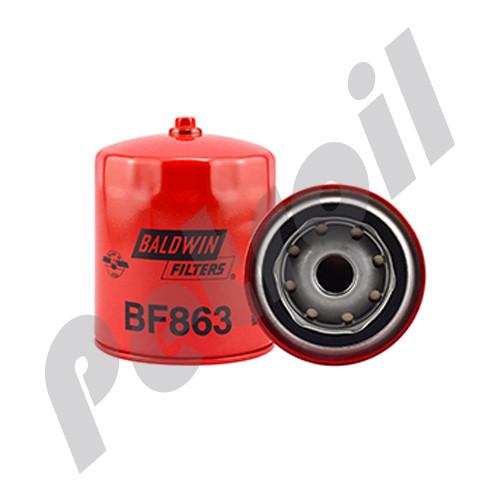 (Case of 12) BF863 Baldwin HEAVY DUTY FUEL(DIESEL) SPINON