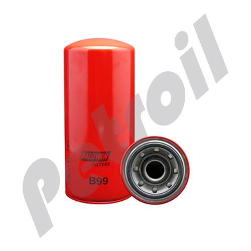 B99 Baldwin Oil Filter Spin On Caterpillar 1R0716 2P4005  LF691A  51792 P554005