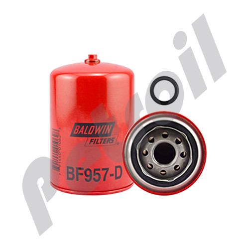 BF957-D Baldwin Fuel Filter Spin On w/Drain FF105D PSC172 33405