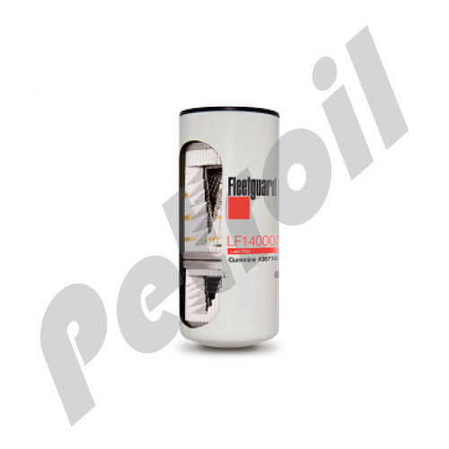 LF14000NN Fleetguard Oil Filter Spin On Venturi Dual Flow Engine