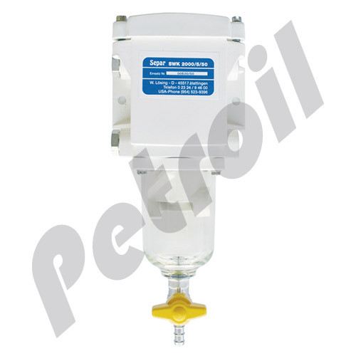 2000/5/50 Separ Filter Fuel Filter Water Separator Single 79 GPH