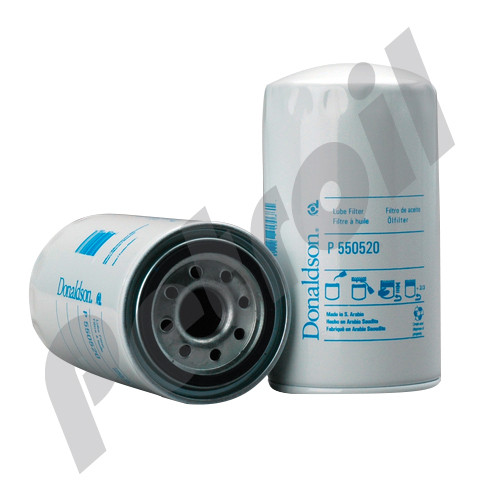P550520 Donaldson Oil Filter Spin On Iveco Tector (170E22) 2992242 W950/26 57037 BT7237 LF16015 L7037    M52X1.5   12