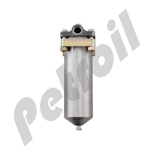 """SS4.5C-10-3/4SD Parker Fulflo High-Pressure Filter Vessel 10"""" Stainless"""