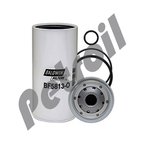 BF5813-O Baldwin Fuel/Water Separator with Open End for Bowl Racor S3202T Isuzu 8156189210 General Motors Corp 156189210