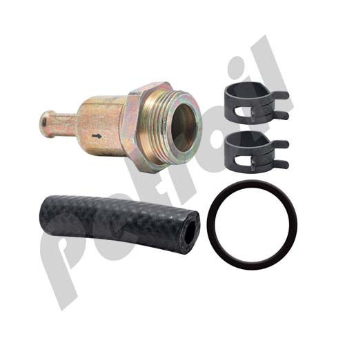 BF46225In-Line Fuel Filter with Clamps and Hose