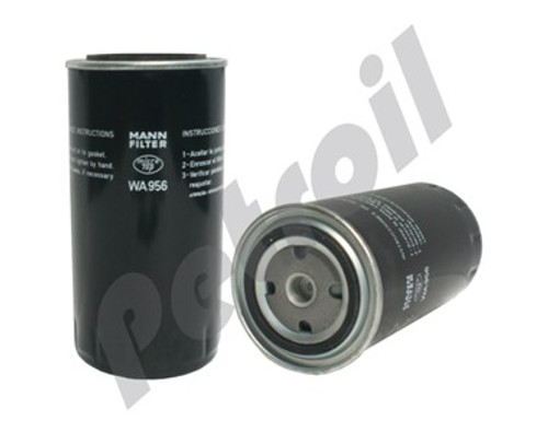 (Case of 1) WA956 MANN Coolant Filter:  Scania Buses (112 / 113 / 124) Scania 524760 524761 PSA761 BW5076