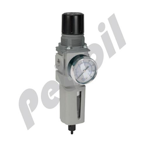 "P32EB92ESMBNHP Parker Global Air Preparation System Filter/Regulator Combo 5mic 1/4"" NPT 250 PSI w/Gauge"