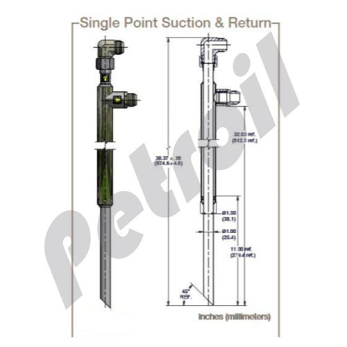 945292 Parker Single Point Suction & Return Concentric Wand Kit for DFC Portable Filter Cart