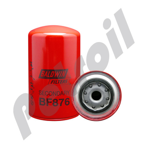 BF876 Baldwin Fuel Filter Spin On Mack R600 483GB441 483GB218B 33218 FF171  Iveco 4733112 P550218