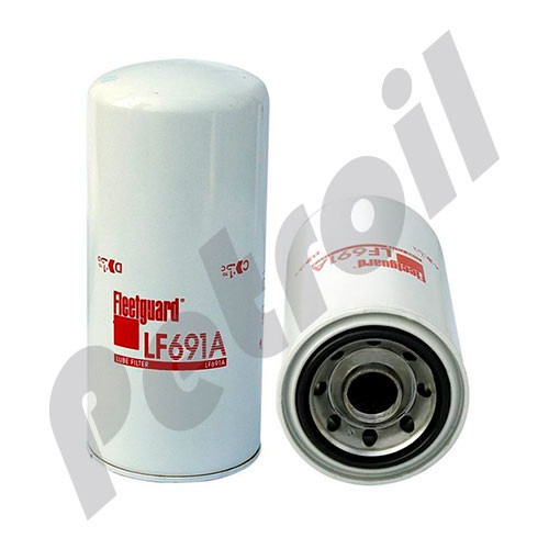 (Case of 6)  LF691A Fleetguard Oil Filter Spin On Caterpillar 1R0716