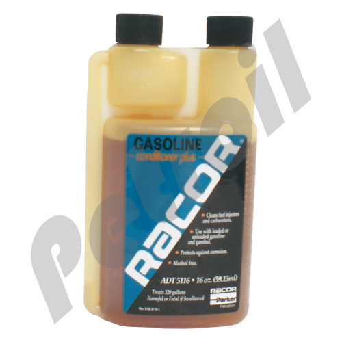 (Case of *) ADT 5116 Racor Additive Gasoline conditioner,Increases octane and clean injectors. Package of 16 Oz for 320 gal (1200 liters)