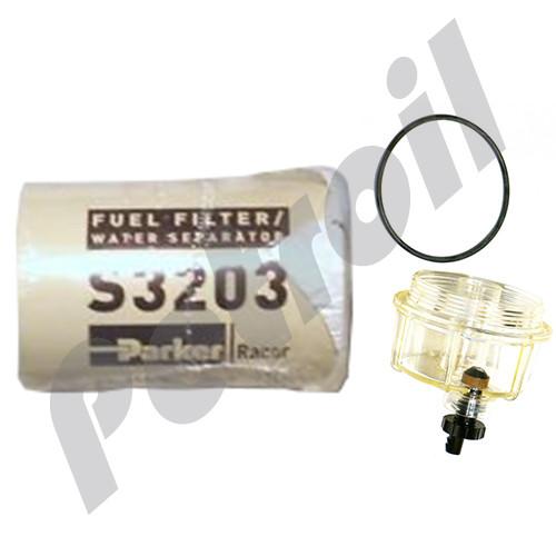 (Case of 12) B32003 Racor Fuel Filter / Water Separator Kit