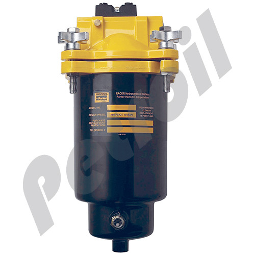 """(Case of 1) FBO-10 Racor Fuel Filter Housing Water Separator PARKER RACOR Max 40 GPM w/Drain (no element) 150 PSI 1.5"""" NPT L 10"""""""