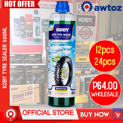 KOBY Auto Tire Sealant Anti-Flat Tyre Sealer 500ml (Wholesale)