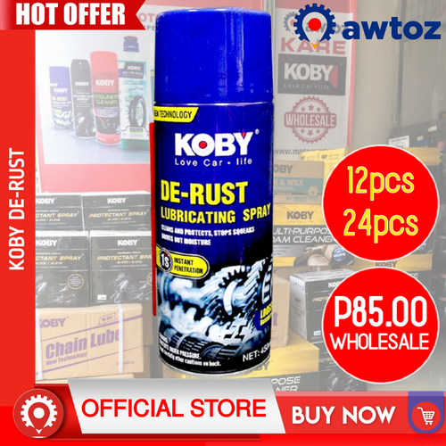 KOBY De-Rust Lubricating Spray & Penetrating Oil 450ml (Wholesale)