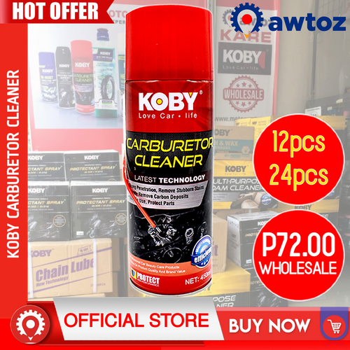 KOBY Motorcycle and Automotive Carburetor Cleaner 450ml (Wholesale)