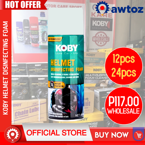 KOBY Helmet Disinfecting Foam 450ml (Wholesale)