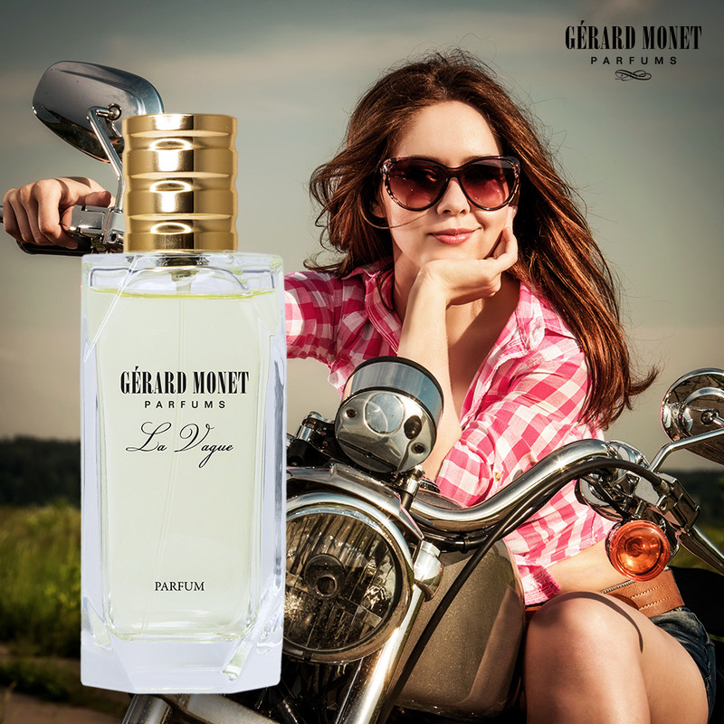 La Vague (The Wave) for Women: is an intoxicating and playful perfume for a woman who is energetic and fun. This perfume is described as playful, happy and sporty. The notes are intoxicating raspberry, wild rose, and cedar-wood.  Fragrance Family: Floral & Fruity Main Accords: Floral, Fresh, Fruity, Green, Powdery, and Sweet.  Top Notes: Grapefruit, Green Notes, Pear, and Raspberry. Middle Notes: Apple Blossom, Jasmine, Litchi, Rose, and Violet. Base Notes: Musk, Plum, and Virginia Cedar.