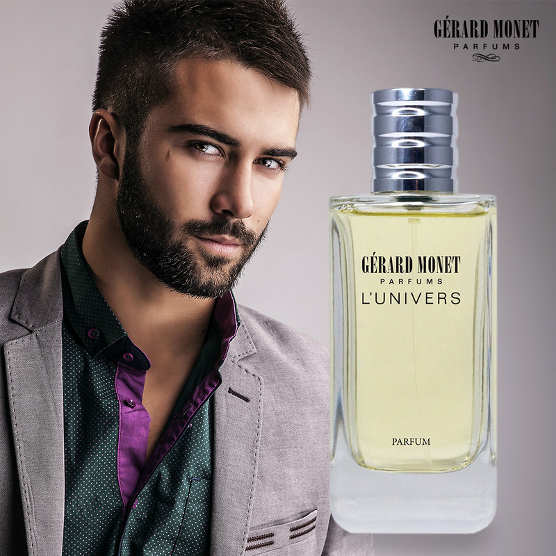 L'Univers (The Universe) for Men: is an enticing and ravishing perfume for a man who is romantic, powerful, and successful but at the same time gentle, charming, and enjoy being alive. Only the most exquisite scents composed this perfume described as strength scent with fruity notes that develops to provocative rose and impressive ambergris.  Fragrance Family: Sweet & Woody Main Accords: Fruity, Leather, Smoky, Sweet, and Woody.  Top Notes: Apple, Bergamot, Black Currant, and Pineapple. Middle Notes: Birch, Moroccan Jasmine, Patchouli, and Rose. Base Notes: Ambergris, Musk, Oak Moss, and Vanilla