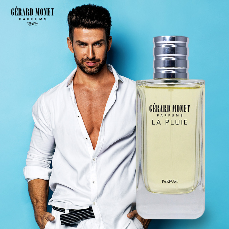 La Pluie (The Rain) for Men: is a sporty and fresh perfume for a man who is vigorous, tenacious and seeks for energy. The perfume is described as an unexpected encounter between the fresh grapefruit notes, the delicate jasmine, and the alluring patchouli.    Fragrance Family: Aromatic & Spicy Main Accords: Aromatic, Citrus, Fresh Spicy, Marine, and Woody.  Top Notes: Fresh Grapefruit, Mandarin Oranges, and Marine Notes. Middle Notes: Aromatic Bay Leaf and Hedione Jasmine. Base Notes: Ambergris, Guaiac Wood, Oakmoss, and Patchouli.