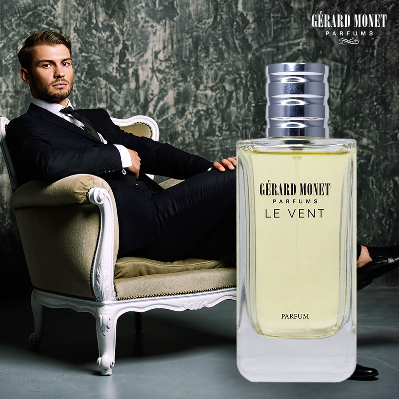 Le Vent (The Wind) for Men: is a masculine perfume for the mysterious man who loves the open spaces and excel in all aspects. Only the finest and bright notes compose this perfume, the shine Ambroxan mix with the Cedar release the spicy woody notes.   Fragrance Family: Aromatic & Fresh Spicy Main Accords: Amber, Aromatic, Citrus, Fresh Spicy, Musky & Warm Spicy  Top Notes: Calabrian Bergamot & Pepper. Middle Notes: Elemi, Geranium, Lavender, Patchouli, Pink Pepper, Sichuan Pepper, and Vetiver. Base Notes: Ambroxan, Cedar, and Labdanum.