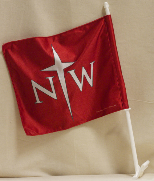 NORTHWESTERN CAR FLAG