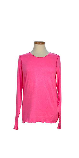 Bella Long Sleeve in Coral Pink Heather