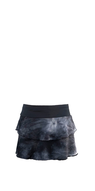 Marina Skirt in Black Tie Dye Mesh
