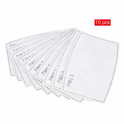 (10) PM2.5 ACTIVATED CARBON MASK FILTERS