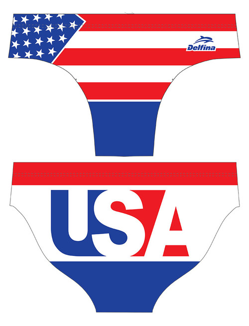 DELFINA MALE USA 80'S WATER POLO SUIT