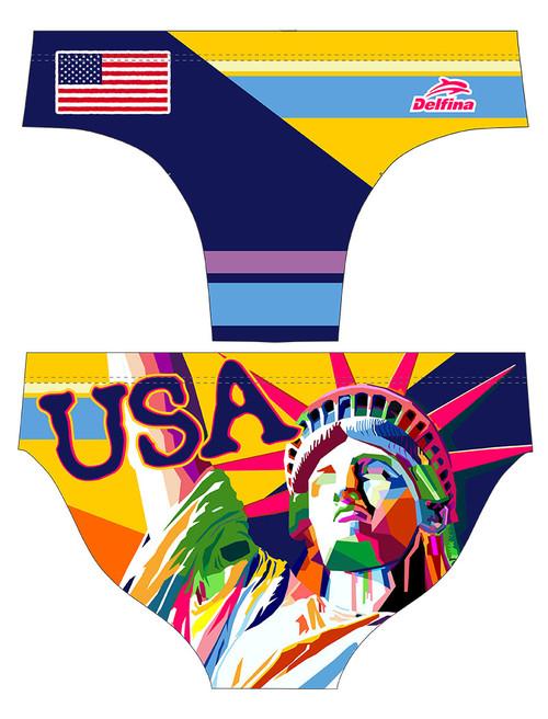 DELFINA MALE USA POP ART WATER POLO SUIT