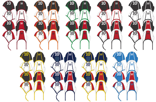 S & R SPORT PRO WATER POLO CAPS 2.0, SET OF 18