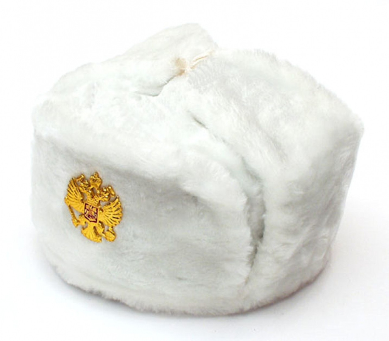 8dc9923c0454b Authentic Russian Military White Ushanka Hat Soviet imperial eagle badge