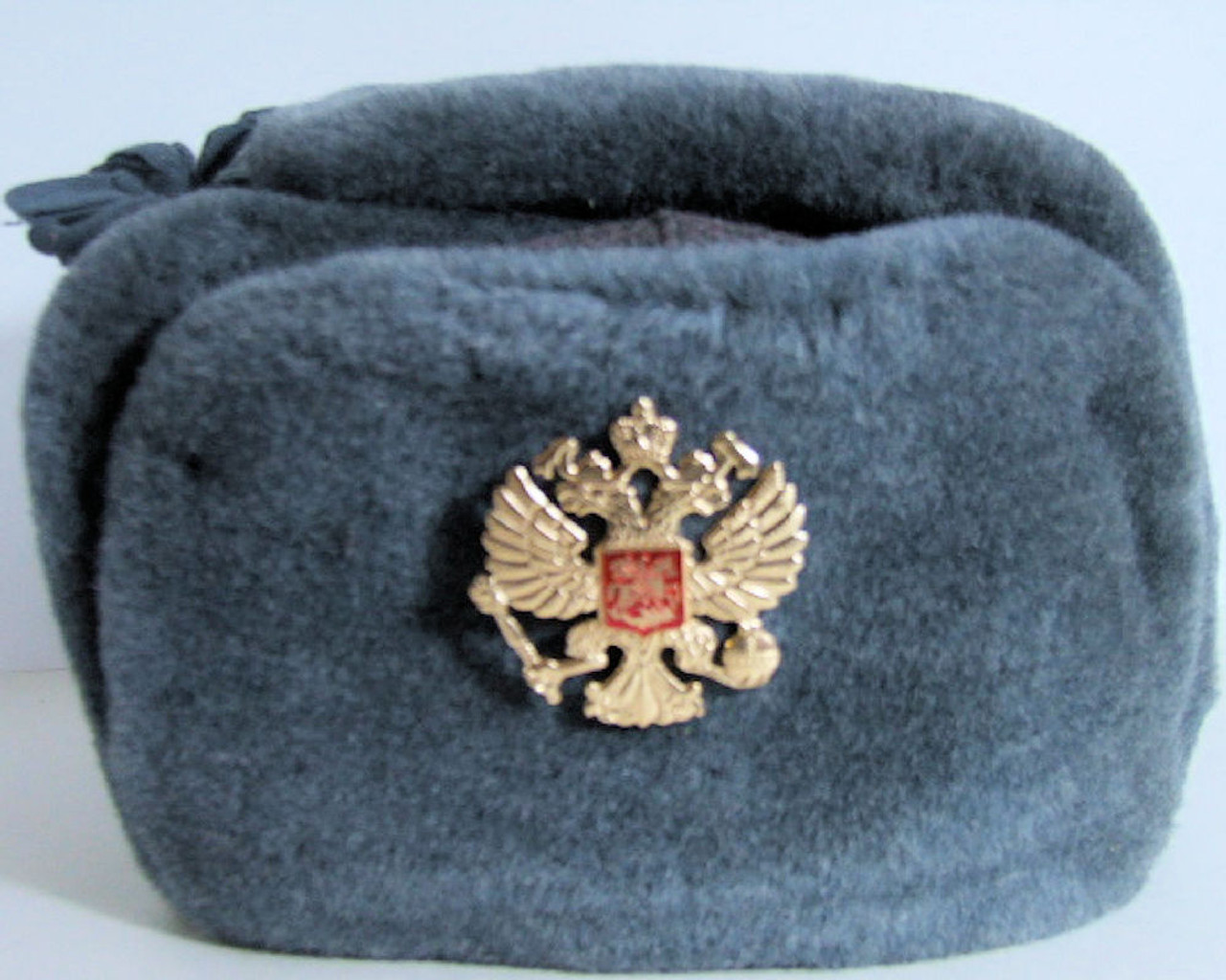 4def7fa2b USSR Vintage Russian Army Ushanka Winter Hat, with Soviet Double Headed  Eagle Insignia (Size 58 cm)