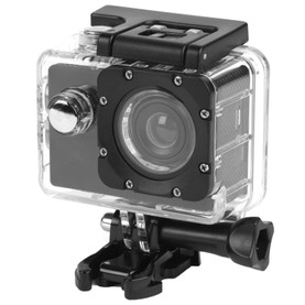 Sync Waterproof Wide Angle IPX8 Action Camera with Self Timer Function, Black
