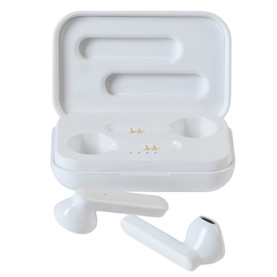 Sync Bluetooth Wireless Earphones with Wireless Charging Case, White