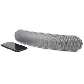 Curved Bluetooth Metallic Speaker, Silver