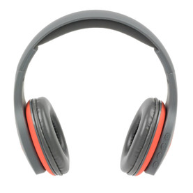 Active Wireless Bluetooth Foldable Headphones with Built-in Hands-Free Microphone, Grey/Coral