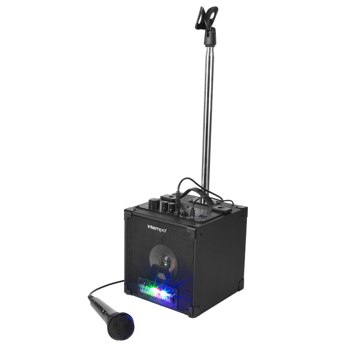 Tempo Bluetooth Karaoke Speaker, Microphone and Stand Included