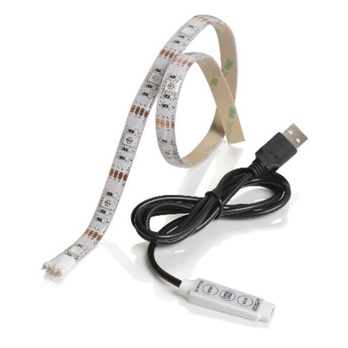Sync Multi-Coloured USB LED Strip Light, 5 Metre