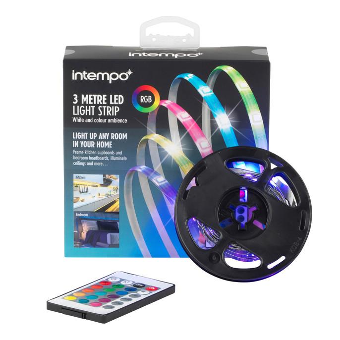 Sync Multi-Coloured USB LED Strip Light, 3 Metre