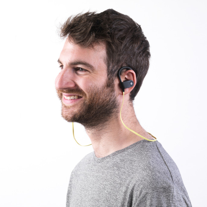 Active WDS Bluetooth Running Set, Black/Yellow