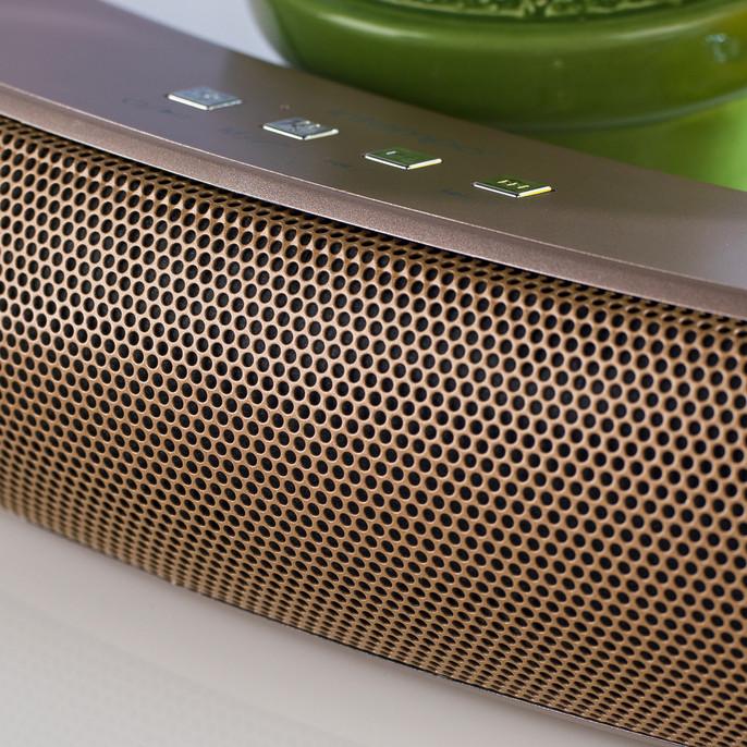 Curved Bluetooth Metallic Speaker, Rose Gold