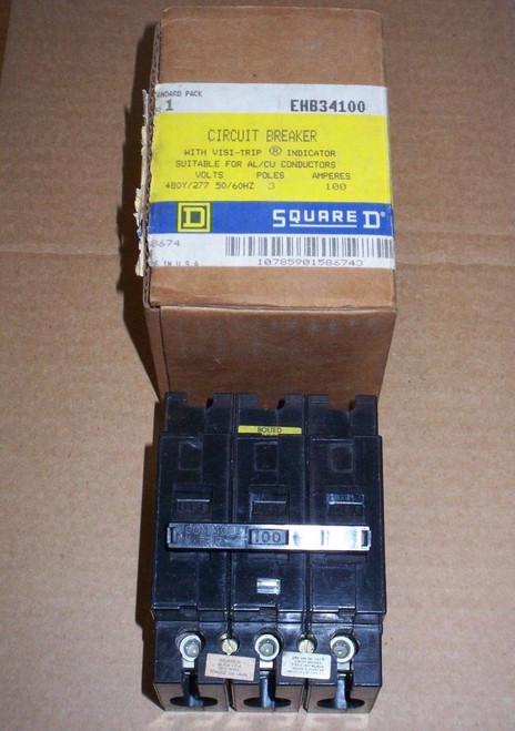 SQUARE D EHB7 3 pole 100 amp 480Y/277v EHB34100