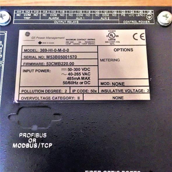 General Electric 369-Hi-0-M-0-0 Motor Management Relay