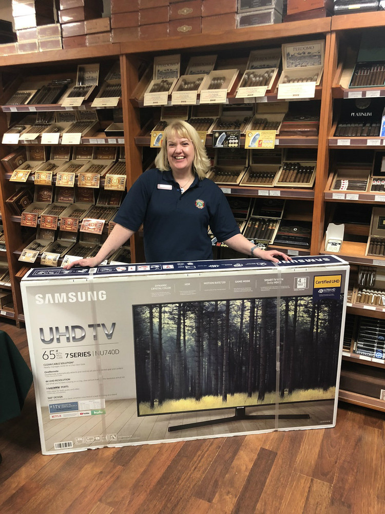 "WIN This HUGE 65"" Television!  Winner Picked at our 12/20/18 Cigar Show!"