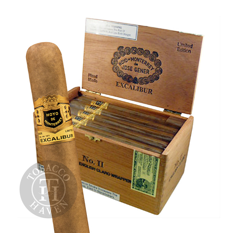 Excalibur  No II - English Claro -  6 3/4 x 47 Cigars (20 Count)