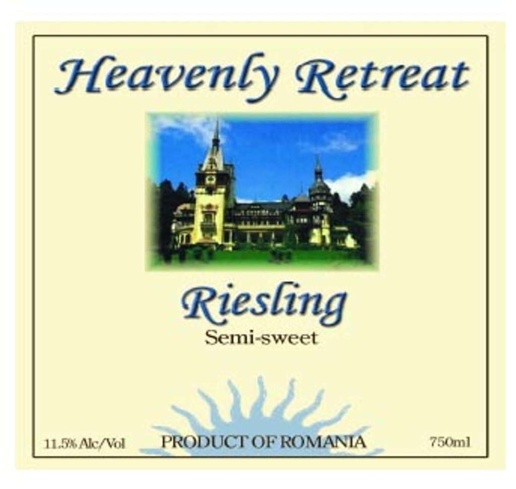Cramele Recas Heavenly Retreat Semi-Sweet Riesling 2014